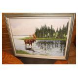 Gary Hoffman artwork of Moose