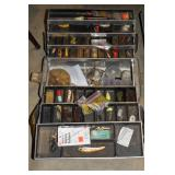 Tackle boxes incl. lures, worms