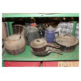 cast Dutch Ovens, skillets, etc.