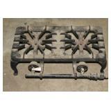 Cast iron dual top stove
