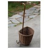 Antique shopping cart (basket on wheels)