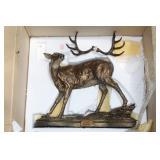 Bronze buck statue- (AS/IS)