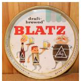 Draft-brewed Blatz beer tray