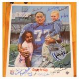 Dan LaRose Caring for Kids Print w/ Detroit Lions Players signatures