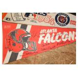 Atlanta Falcons Pennant w/ signatures
