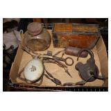Vintage locks w/ barbwire