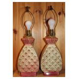 Pair of Pineapple lamps- no shades