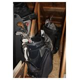 Several golf bag sets