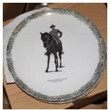 President Roosevelt on his favorite horse plate