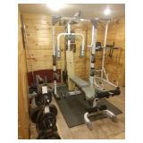 Large Weight Set incl bench, free weights, etc.