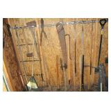 Misc. yard Tools incl. shovels, rakes