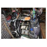 Several golf bags