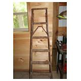 Wooden step ladder 6 ft.