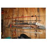 Large pole saw, bottle jacks, etc.