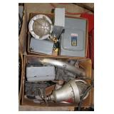 Misc. electrical components, lights, breakers