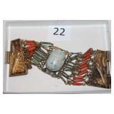 #22 Egyptian Scarab bracelet