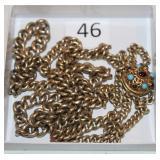 #46 English Sterling Lion Hallmark heavy chain