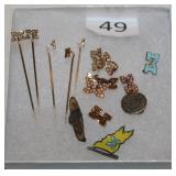 #49 Collection of U of M Jewelry - most 10K & Pearls, some Opals & Some Sterling