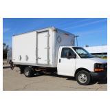 #1080  2013 GMC Savana Cutaway 14'Box w/ 27,563 Miles