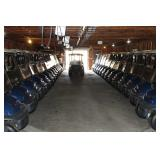 (45) 2011 Club Car navy blue Precedent electric 48 volt golf carts