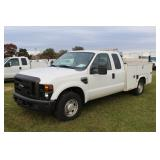 #1556 2010 Ford F-350 Extended Cab Utility Truck 21.2k miles