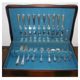 #151 Traub Bros Detorit 59pc Sterling Silver set-