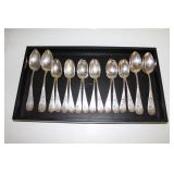 #178 16 Sterling Silver Spoons- 406 grams