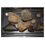 #359 Lot incl. Ancor, hammer stones, Nutting Stone, Gaming Stones & Tools