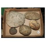 #361Lot of 2 Large Grinding Stones & 2 Gaming Stones