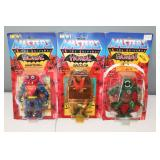 #308 Masters of the Universe (3) Horde - Mantenna NIP, Grizzlor NIP & Leech blister is off