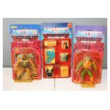 #312 Masters of the Universe Weapons Pack NIP, Man at Arms & Fisto - blister off