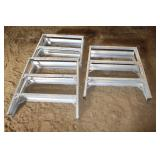 Aluminum step stools (Getting on Horses)