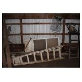 Ladder, scrap metal, etc.
