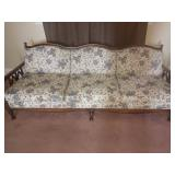 floral upholstered chair and couch set of 2