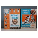 #403 (2) Tiger Yearbooks 1958 signed by (6) incl. Kaline, Lary, Maxwell ETC.