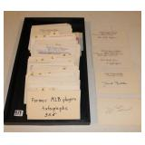 #419 Huge lot 150+ 3x5 cards signed by former MLB players incl. 1930