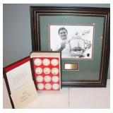 #449 Ray Floyd signed photo w/ COA & History of Golf Balls