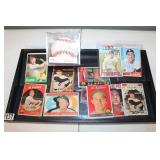 #459 Al Kaline lot - JSA signed ball, 11 cards starting w/ 1958 & a bunch of the 60