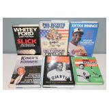 #488 (6) signed hardcover books - Ford, F. Robinson, (2) Rizzuto, Irvin, & Kiner