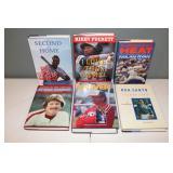 #490 (6) signed hardcover books - Puckett, Ryan, Sandberg, Schmidt, Seaver, & Santo