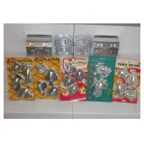Aluminum cookie cutters and gingerbread house mold