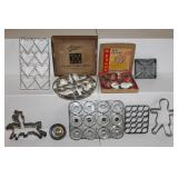 Cooky Cutters 6 in 1, Ateco 8 in 1, and antique cookie cutters