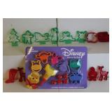 Plastic cookie cutters incl. Disney and Rudolph the Red-Nose Reindeer Domar