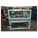 """(2) 5' x 5' 1"""" Steel Top Welding Tables"""