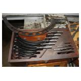 Great selection of Machinist tools including lots of micrometers
