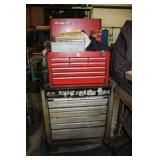 Tool box with hand tools