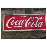 "#937 Coca Cola plastic store sign 120 x 40"""