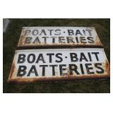 #942 -943 Boat & Bait signs from Doanes Marina - Belleville, MI