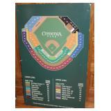 #945 Tin Tigers Comerica Park stadium sign