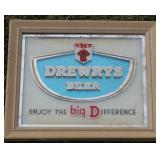 #949 Small Drewrys Beer back bar sign